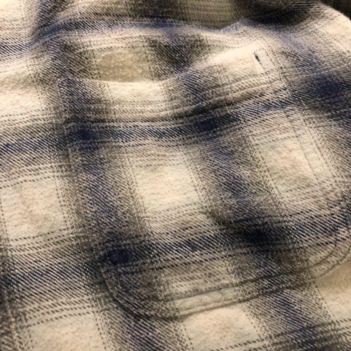 古着 オンブレチェック ネルシャツ フード付き ユニセックス