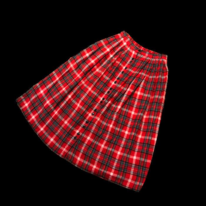 古着 ネルチェック スカート INDIA製 ユニセックス
