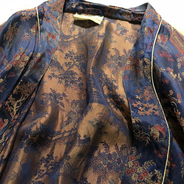 古着 OLDチャイナガウン 刺繍 サテン ユニセックス