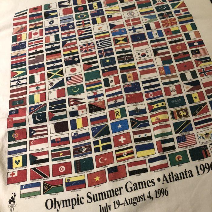 古着 L/STee 90s- ATLANTAオリンピック WordFlag ユニセックス