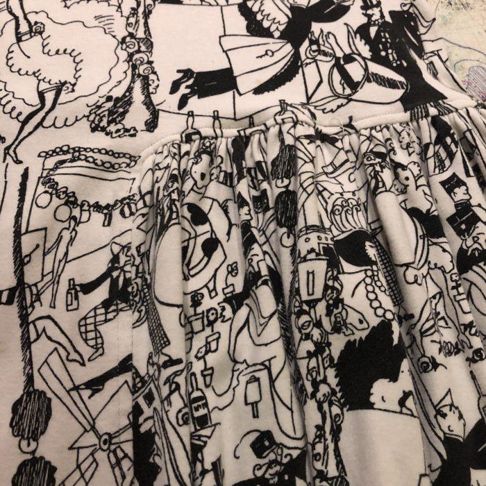 古着 スカート 総柄 イラスト GIL AIMBEZ 80s- レディース