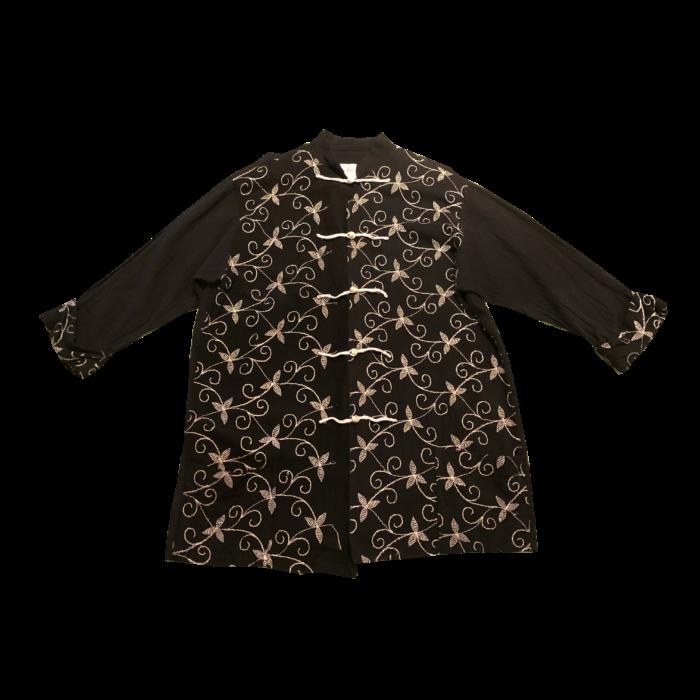 古着 チャイナデザイン 刺繍 シャツ ユニセックス