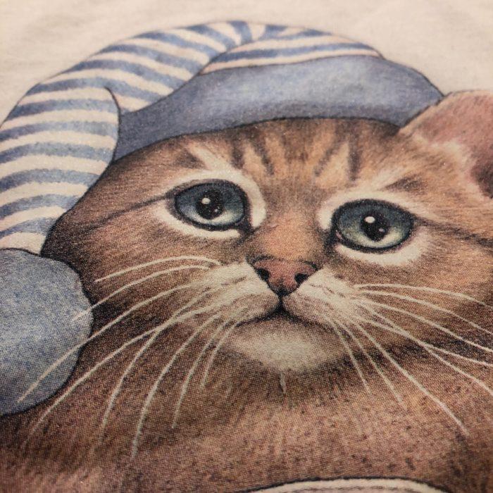 古着 Tシャツ BOBHARISSON 猫 90S ユニセックス