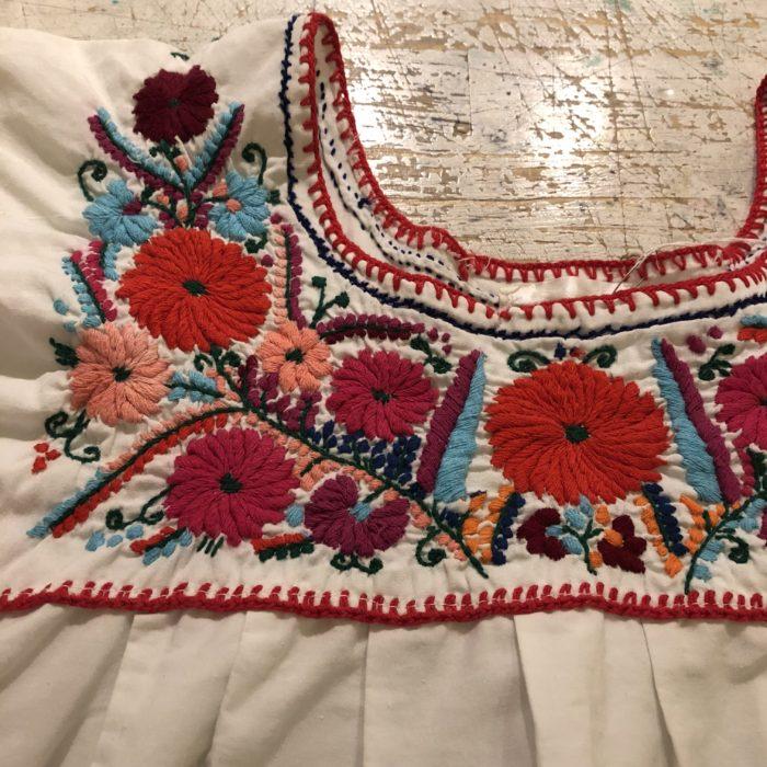 古着 メキシカンチュニック 刺繍 レディース
