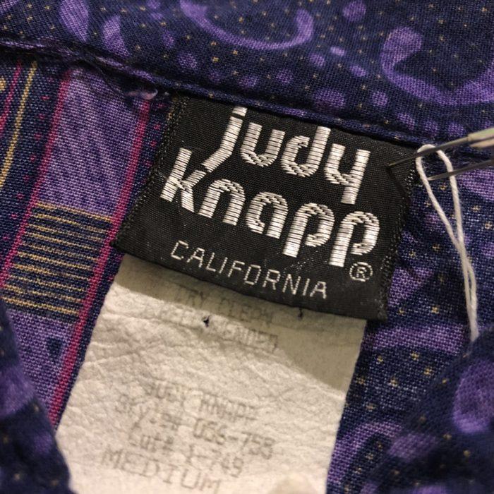 古着 シャツ レーヨン 80S USA製 JUDYKNAPP ユニセックス