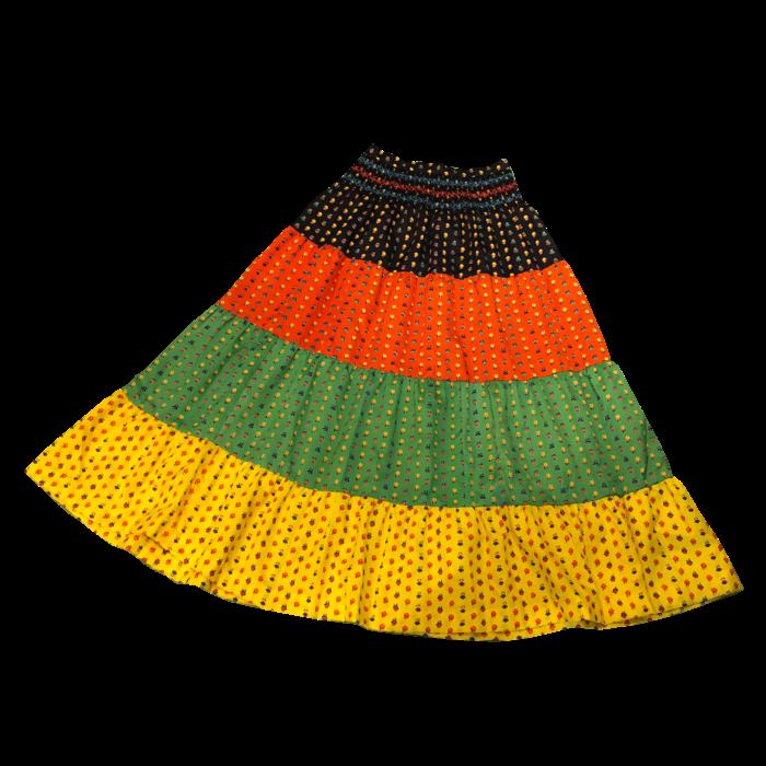 古着 スカート 小花柄 カラフル フレア 70S レディース