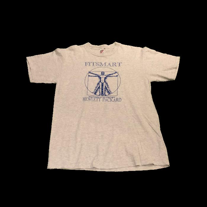 古着 Tシャツ ウィトルウィウス的人体図的 90S USA製 ユニセックス