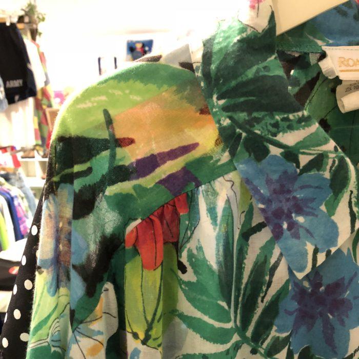 古着 L/Sシャツ 花柄 シースルー 80S  USA製 ユニセックス