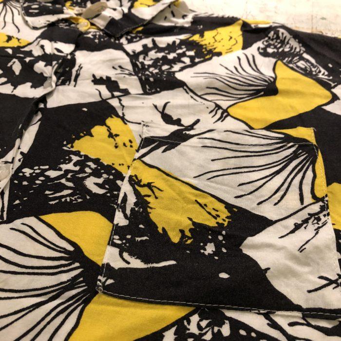 古着 S/Sシャツ 総柄 レーヨン USA製 ユニセックス