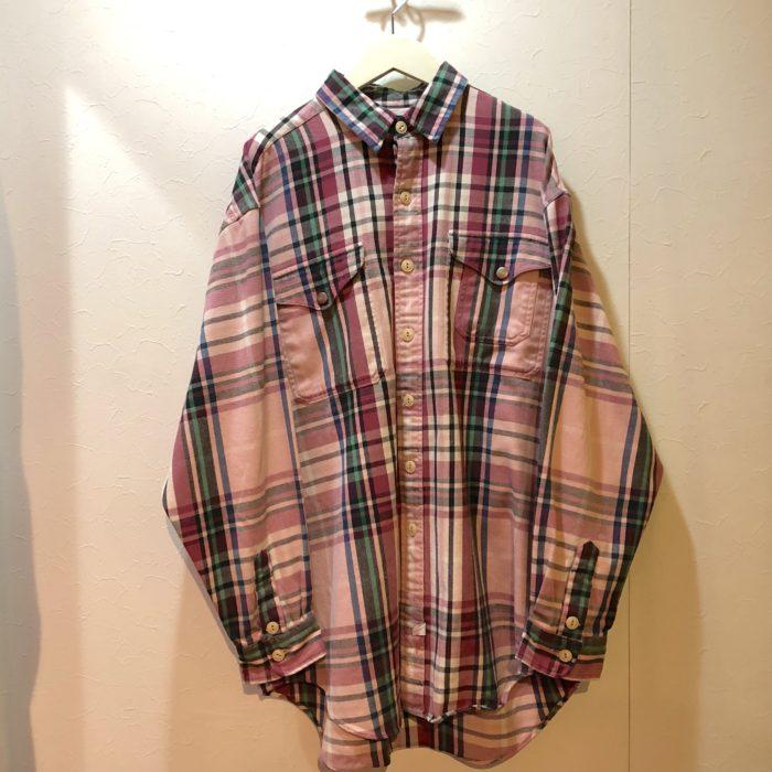 古着 シャツ RalpnLauren ネルチェック 90S ユニセックス