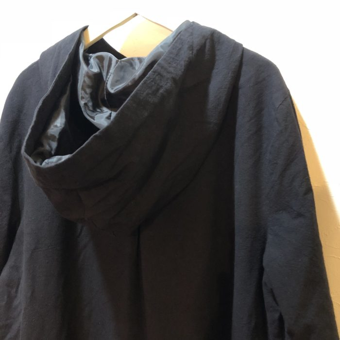 古着 コート チャイナデザイン フード付き 黒 ユニセックス