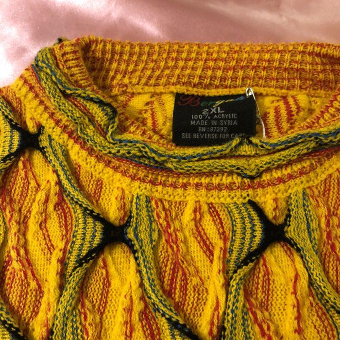 古着 3D 立体編み ニットセーター シリア製 ユニセックス