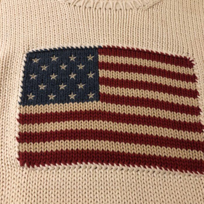 古着 星条旗 USFLAG RalphLauren ニットセーター ユニセックス