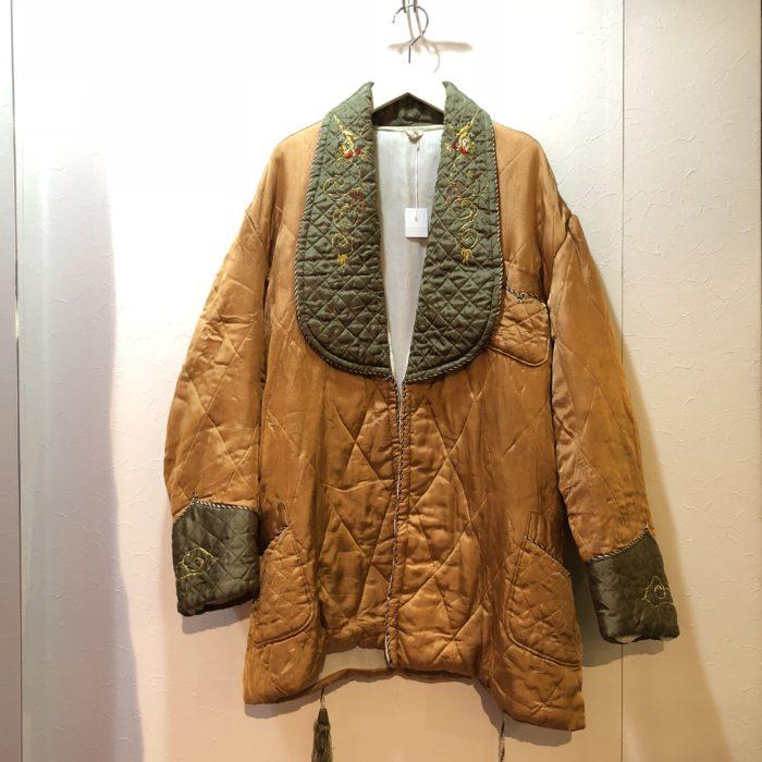 Vintage 50S サテン×キルティング×刺繍 ジャケット