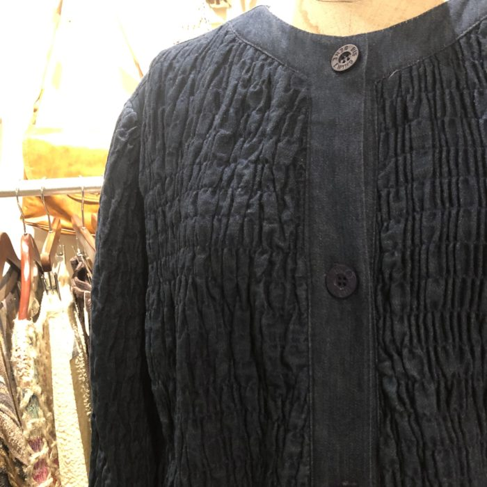 80s- gene ewing BIS Shirring denim jacket ユニセックス