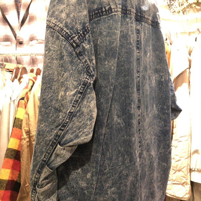 80s- Chemical wash Denim Coat ユニセックス