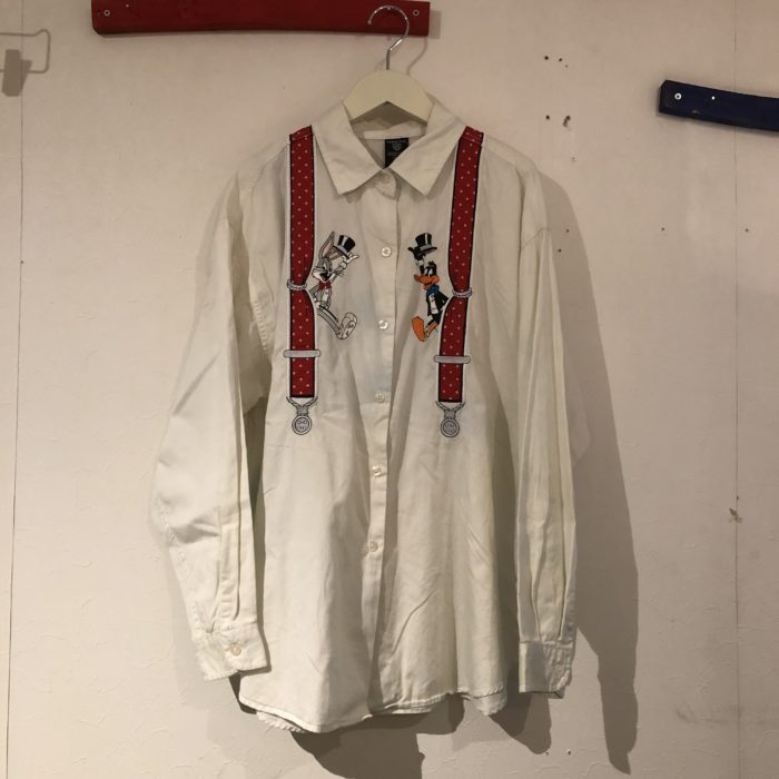 1997 WARNER BROS suspenders  embroidery Shirts レディース