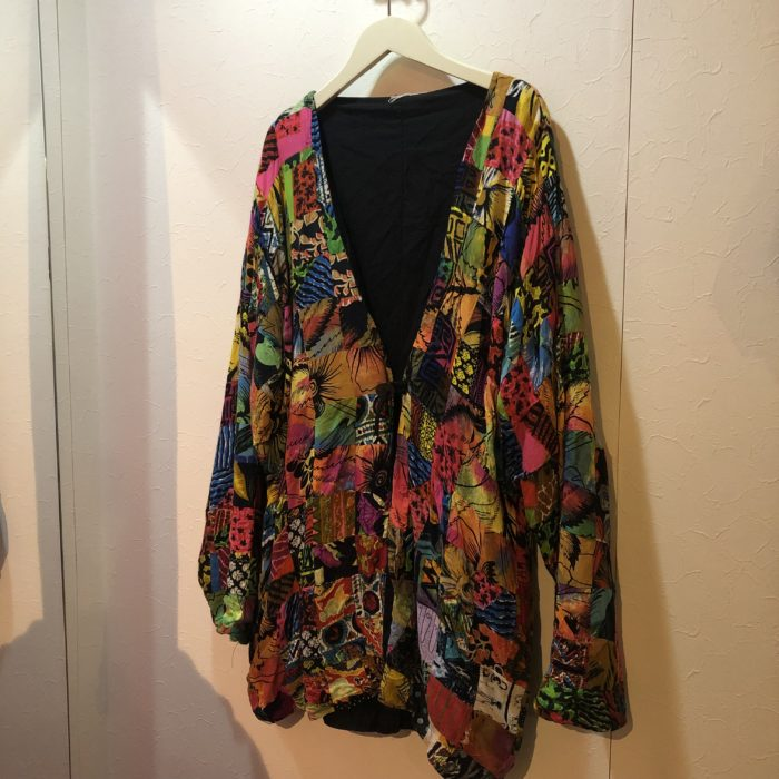 Old coin button patchwork jacket ユニセックス