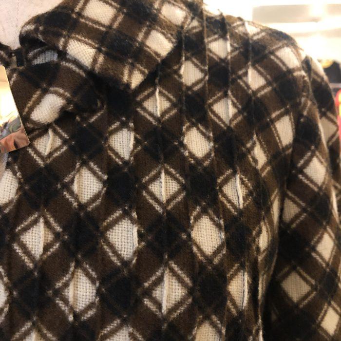 70s- pin tack check pattern Dress レディース