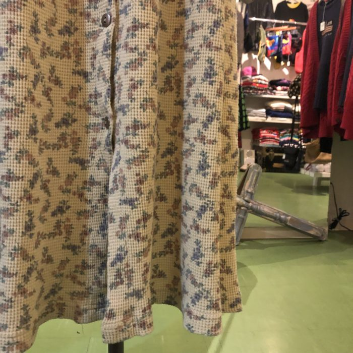 80s- USmade Flower pattern Thermal Dress レディース