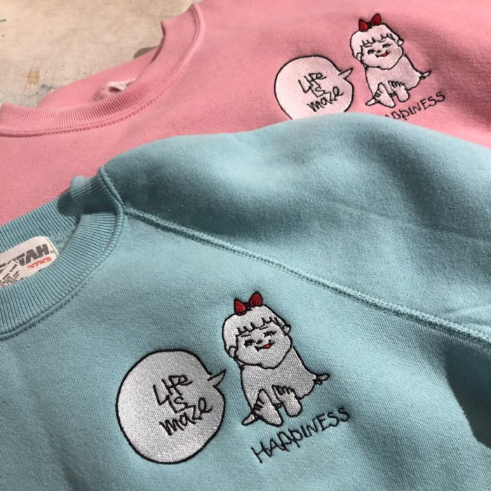 Happiness Girl 「Life is maze」Sweat shirts オリジナルリメイク