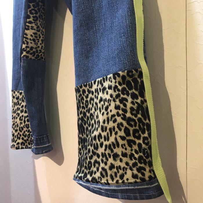 gpk Remake denim×leopard pants オリジナルリメイク