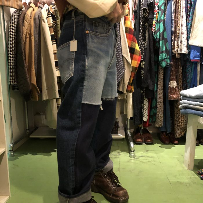 gpk Remake 2in1 Denim pants ユニセックス