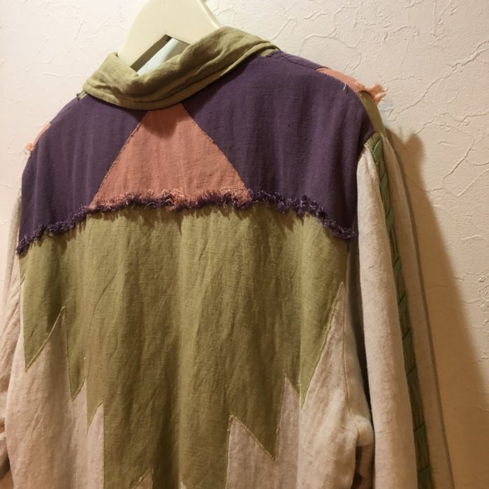 INDIA made cotton patchwork jacket ユニセックス