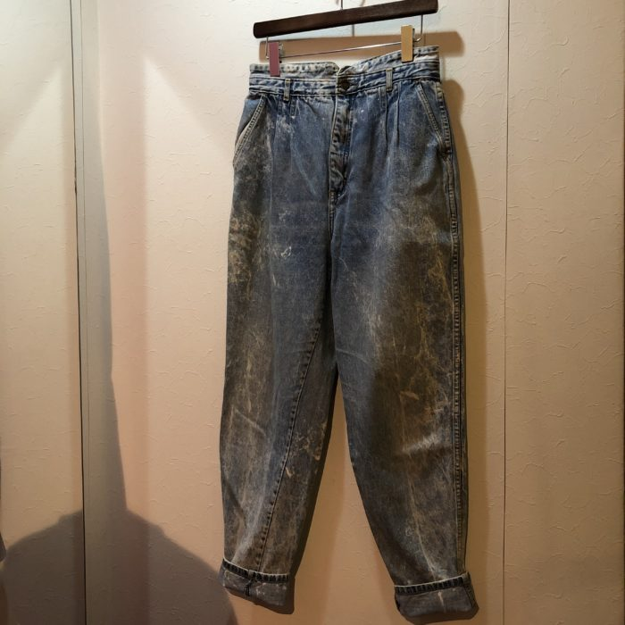 80s- Chemical wash denim pants レディース