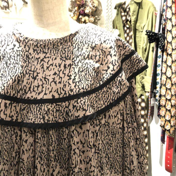 80s- rabatine collar dress レディース