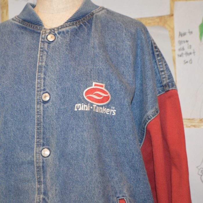 bicolor denim jacket ユニセックス