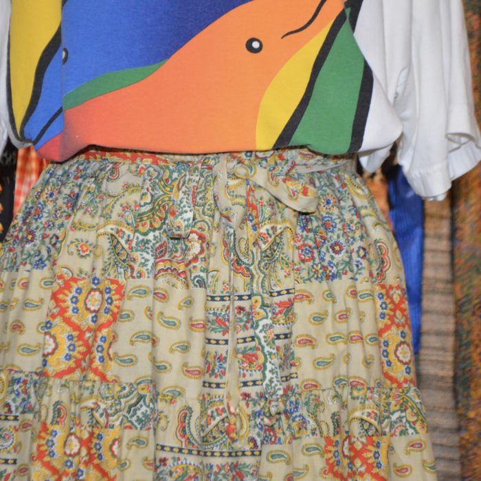 70-80s paisley switching skirt レディース