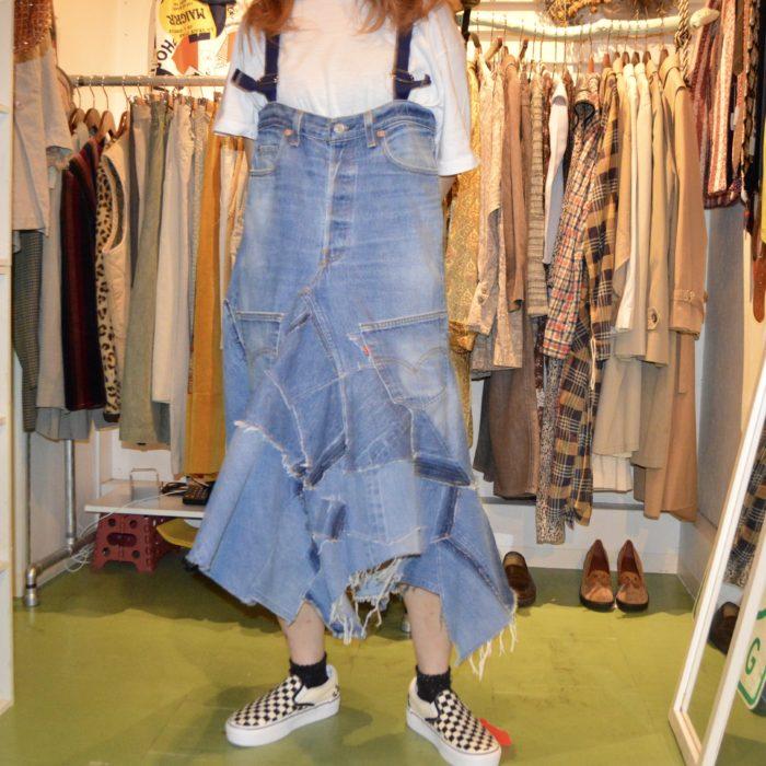 gpk Remake denim dress オリジナルリメイク
