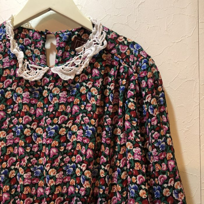 80s US Made Floral polyester dress レディース
