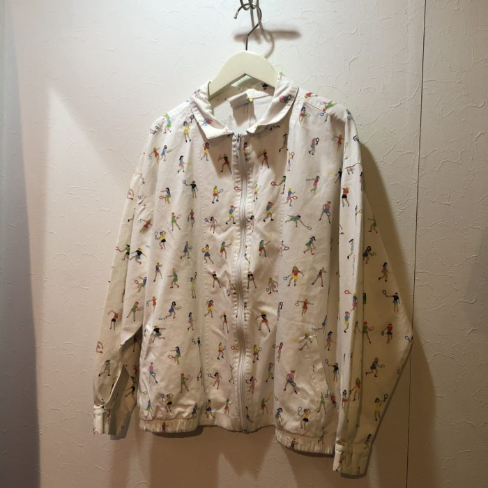 80s tennis lady fabric blouson レディース