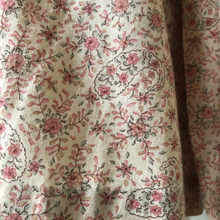 70s- 小花柄×レース ブラウス レディース
