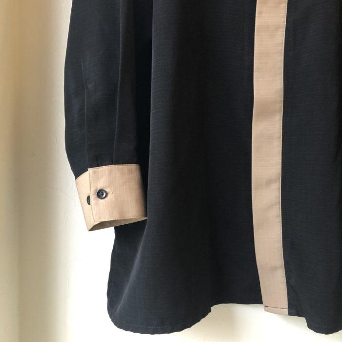 80s- USA製 比翼 ポリエステル シャツ ユニセックス