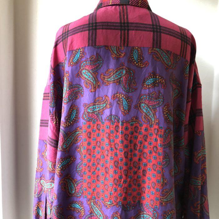 クレイジーパターン プリントシルクシャツ ユニセックス