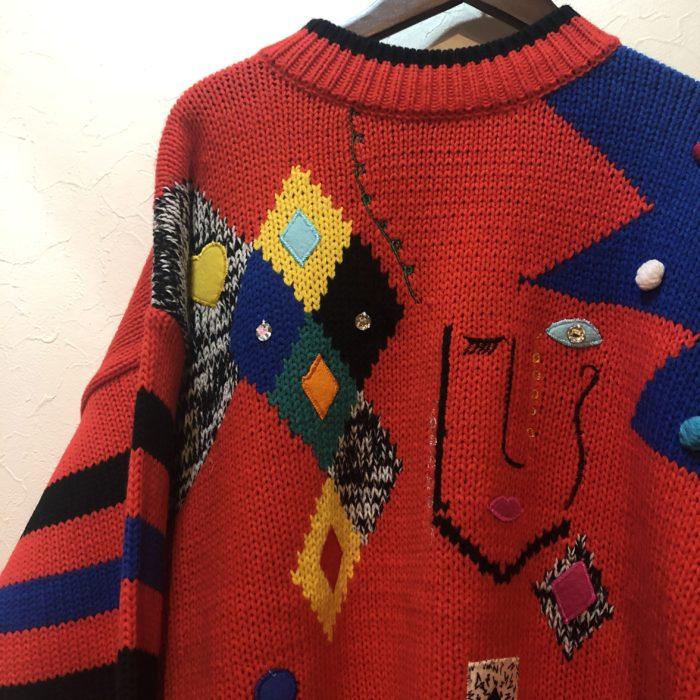 80sなカラフルニットセーター♡ ユニセックス