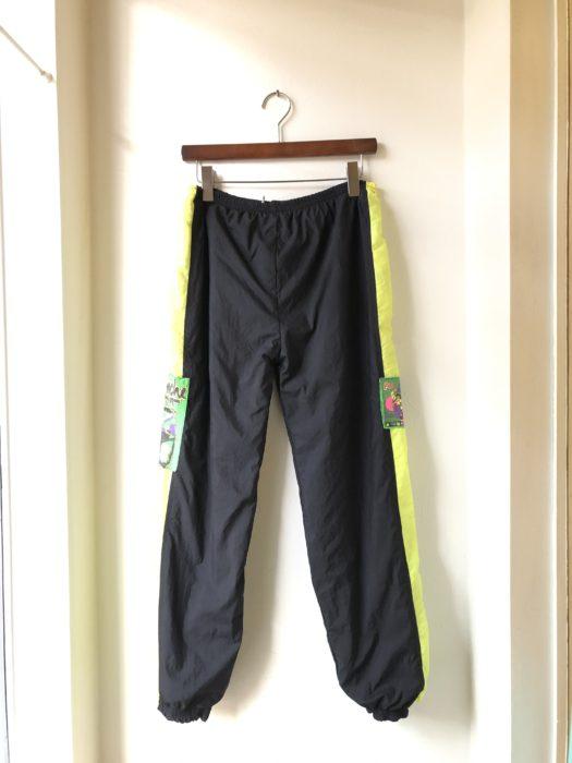 80s- 総柄×ナイロン リバーシブルパンツ ユニセックス