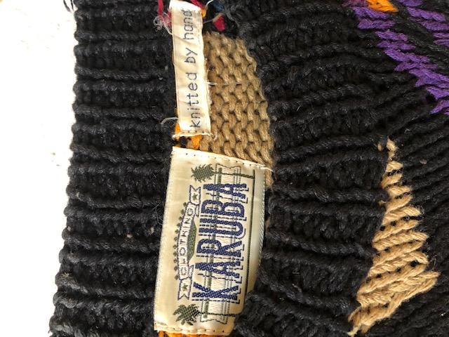 パッチワーク編みなハンドニットセーター レディース