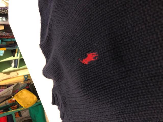 Ralph Lauren ワンポイント刺繍 コットンニットセーター ユニセックス