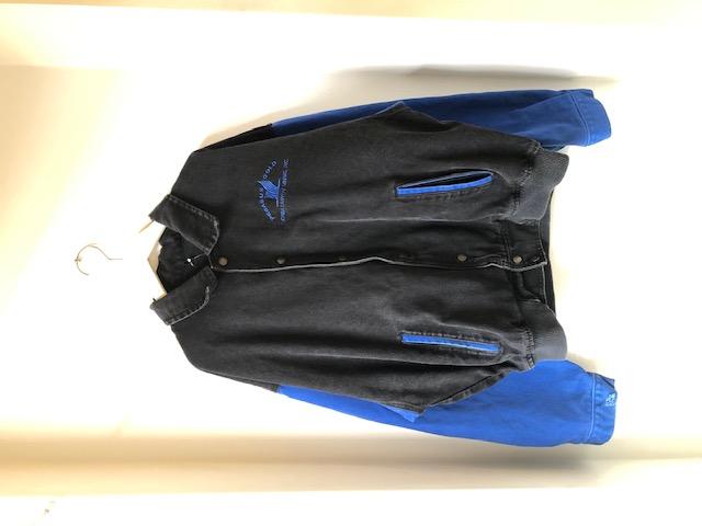 袖丈切り替え2トーンカラーデニムブルゾン