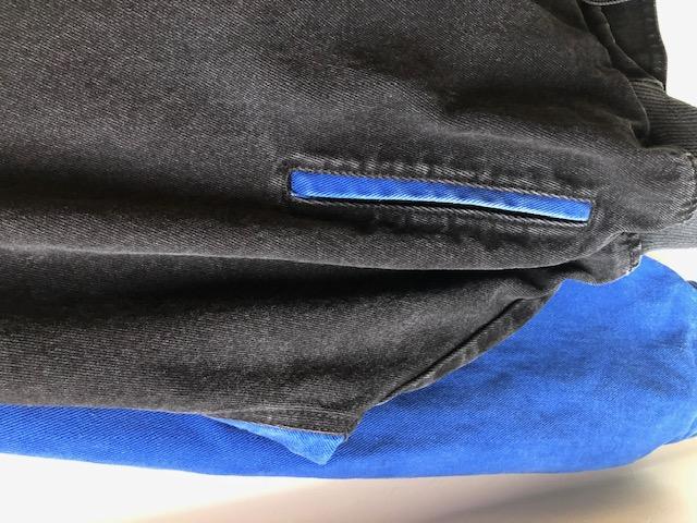 袖丈切り替え2トーンカラーデニムブルゾン ユニセックス