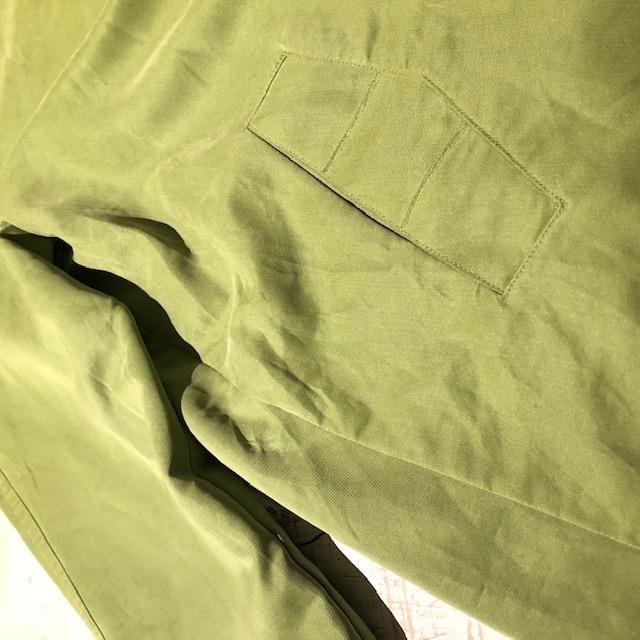 ピスタチオグリーン デザインコート ユニセックス