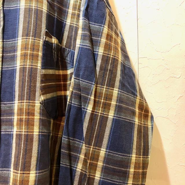 90s- フード付きネルチェックシャツ ユニセックス